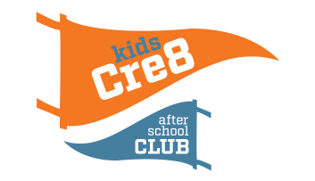 Kids Cre8 Flag for the afterschool club